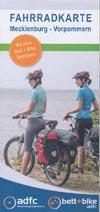 adfc Fahrradkarte Mecklenburg-Vorpommern mit Bett+Bike Betrieben