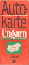 DDR Auto-Karte Ungarn Maßstab 1:500.000