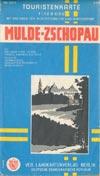 DDR Touristenkarte Mulde-Zschopau M 1:120.000