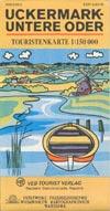 DDR Touristenkarte Uckermark -  Untere Oder M 1:150.000
