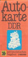 Autokarte DDR mit touristischen Angaben M 1:500.000
