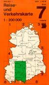 DDR-Reise- und Verkehrskarte 7 - Leipzig
