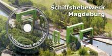 CD-Postkarte Schiffshebewerk Magdeburg Rothensee