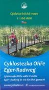 Cykloturistika mapa cyklostezka Ohre - Fahrradkarte Eger-Radweg M 1:100.000
