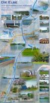Faltposter - Die Elbe von Schönebeck bis Niegripp mit Wasserstraßenkreuz Magdeburg