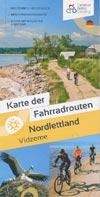 Karte der Fahrradrouten Nordlettland Vidzeme, Maßstab 1:500.000