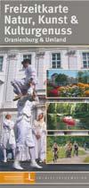 Freizeitkarte Natur, Kunst und Kulturgenuss Oranienburg und Umland