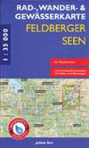 Rad- und Wanderkarte + Gewässerkarte Feldberger Seen