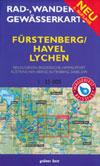 Rad- und Wanderkarte + Gewässerkarte Fürstenberg/ Havel Lychen
