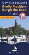 Gewässerkarte Große Mecklenburgische Seen, M 1:50.000