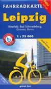Fahrradkarte Leipzig 1:75.000