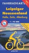 Fahrradkarte Leipziger Neuseenland (Halle, Zeitz, Altenburg) M 1:75.000