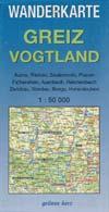 Wanderkarte Greiz Vogtland, grünes herz M 1:50.000