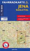 Fahrradkarte Jena - Saaletal 1:75.000, Grünes Herz 4. Auflage 2020