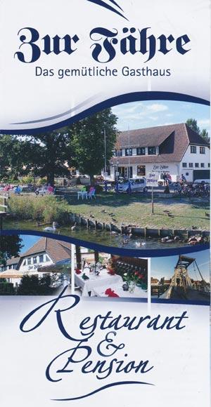 Zur Fähre - Das gemütliche Gasthaus - Restaurant und Pension in Greifswald-Wieck