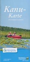 Kanu-Karte Mecklenburgische Seenplatte mit Anbieterverzeichnis