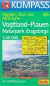 KOMPASS Wander-, Rad- und MTB Karte Vogtland-Plauen, Naturpark Erzgebirge