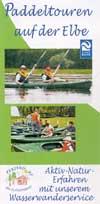 Paddeltouren auf der Elbe, Flyer