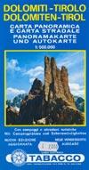Panoramakarte und Autokarte Dolomiten-Tirol (1998), M 1:500.000
