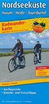 Radwanderkarte Nordseeküste, Husum, Heide, Brunsbüttel M 1:100.000, Publicpress