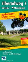 Radwanderkarte Elberadweg 2, Dessau - Wittenberge, Publicpress