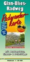 Radwanderkarte Glan-Blies-Radweg Maßstab 1:50.000, Publicpress