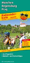 Radwanderkarte Radweg München-Regensburg-Prag, Publicpress