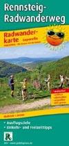 Radwanderkarte Rennsteig-Radwanderweg M 1:50.000