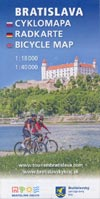 Bratislava Cyklomapa - Radkarte - Bicycle map 1:18.000 + 1:40.000