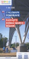 Fahrradkarte Radkarte Donau-March-Region / Cyklomapa Pomoravie, M 1:60.000