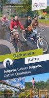 Radrouten-Karte Gebiet Jelgava, Gebiet Ozolnieki (Central Baltic Cycling)