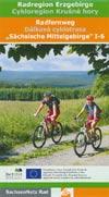 Radfernweg Sächsische Mittelgebirge I-6 - Radregion Erzgebirge Maßstab 1:175.000