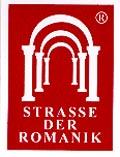 Aufkleber Straße der Romanik Sachsen-Anhalt, Format 3x4cm