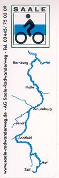 Aufkleber Saale-Radwanderweg