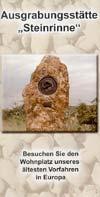 Ausgrabungsstätte Steinrinne Bilzingsleben, Flyer