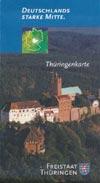 Thüringenkarte - Freistaat Thüringen Deutschlands starke Mitte