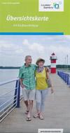 Übersichtskarte Lausitzer Seenland mit Radtourentipps