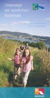 Unterwegs am westlichen Bodensee - Freizeitkarte mit rad- und Wanderwegen