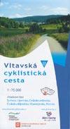 Fahrradkarte Vltavská Cyklistická Cesta - Moldau-Radweg