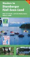 Wandern im Starnberger Fünf-Seen-Land, Wanderkarte Maßstab 1:35.00