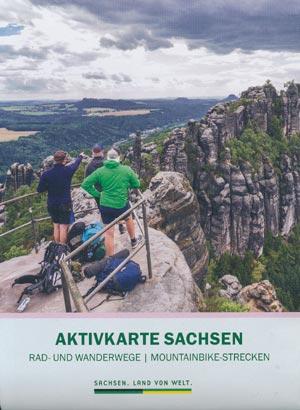 Aktivkarte Sachsen - Rad- und Wanderwege, Mountainbike-Strecken