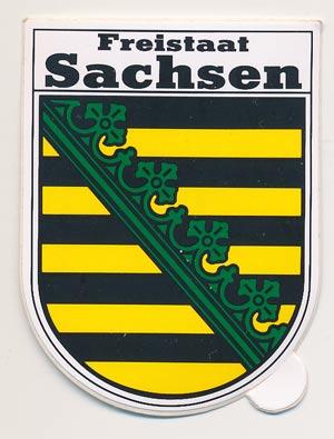Aufkleber Wappen Land Sachsen (klein 5,32 cm hoch)