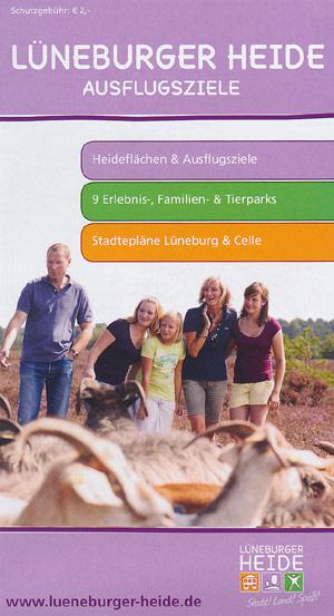 Ausflugsziele Lüneburger Heide, M 1:120.000