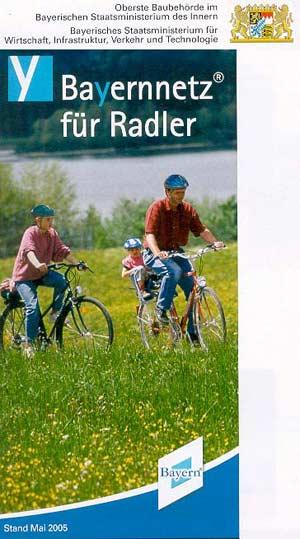 Übersichtskarte Bayernnetz für Radler