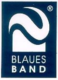 Aufkleber Blaues Band Sachsen-Anhalt, Format 3x4cm
