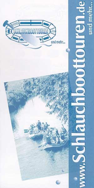 Schlauchboottouren - Flyer