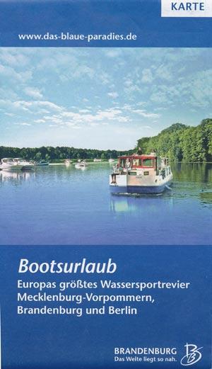 Bootsurlaub - Karte Das Blaue Paradies
