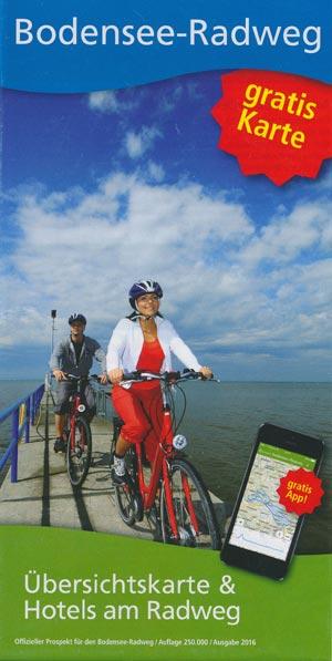 Bodensee-Radweg - Übersichtskarte mit Hotels und Camping am Radweg