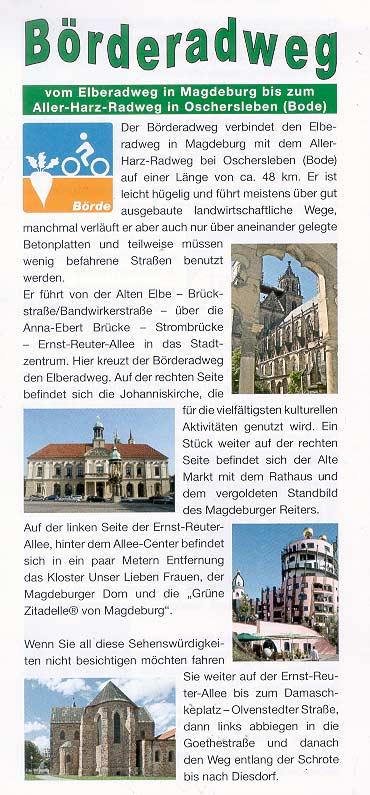 Börderadweg vom Elberadweg zum Aller-Harz-Radweg