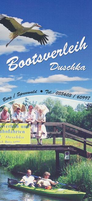 Bootsverleih Druschka Burg / Spreewald